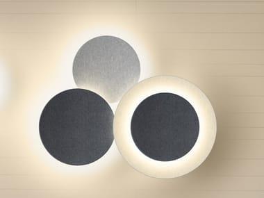 Applique a LED a luce indiretta PUCK WALL ART TRIPLE