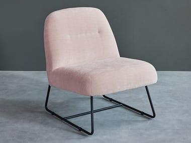 Sled base fabric easy chair PUFFY | Easy chair