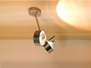 Lampada da soffitto orientabile con braccio flessibile PUK WING TWIN | Lampada da soffitto