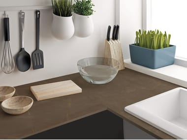 Sintered ceramic kitchen worktop with marble effect PULPIS | Sintered ceramic kitchen worktop
