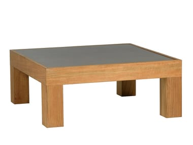 Low square teak coffee table PURE SOFA | Square coffee table