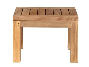 Low square teak coffee table PURE SOFA | Teak coffee table