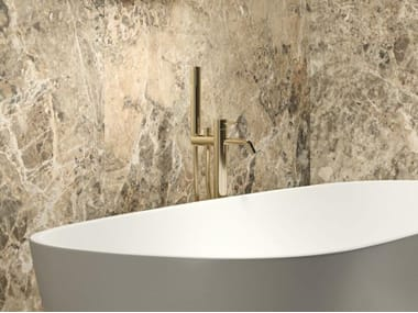 Rectified white-paste wall tiles with marble effect PURITY OF MARBLE BRECCE | Wall tiles