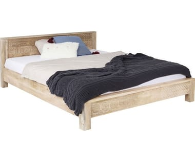 Wooden double bed PURO | Bed