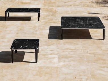 Tavolino da giardino basso con piano in gres porcellanato PUSH   Tavolino