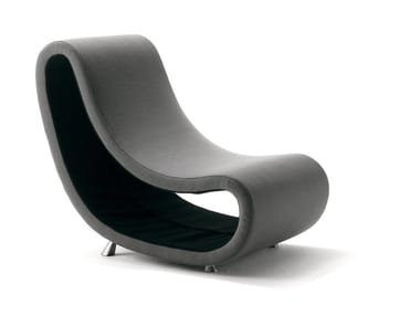 Upholstered fabric armchair PUSH-OUT | Armchair