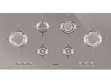 Gas stainless steel hob PXL6106
