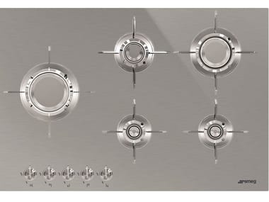 Gas stainless steel hob PXL675L