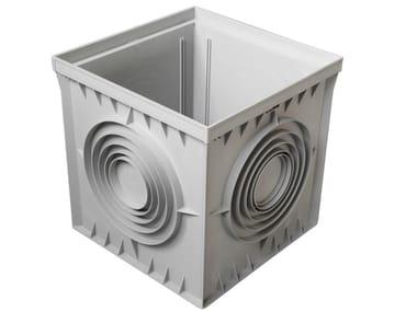 Pozzetto monolitico grigio tradizionale in polipropilene PZ40