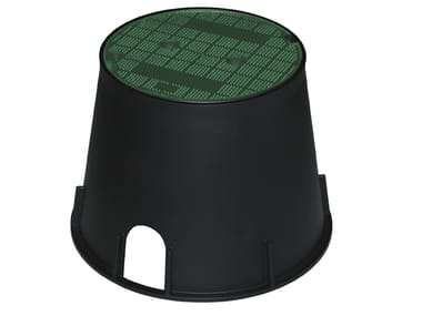 Pozzetto da giardino con coperchio pedonale verde PZCRP25V