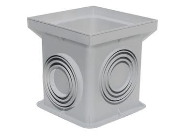 Pozzetto monolitico grigio tradizionale in polipropilene PZN20