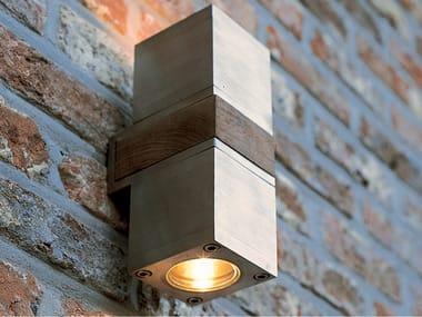 Lampada da parete per esterno a luce diretta in acciaio inox Q-BIC 2D | Lampada da parete per esterno