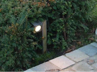 Paletto luminoso in teak Q-BIC | Paletto luminoso