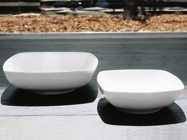 Square porcelain plates set Q39 | Deep plate