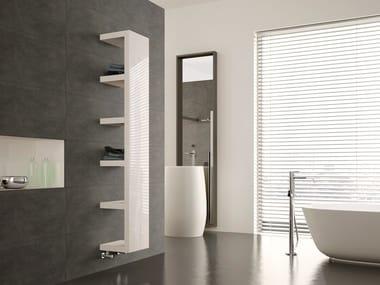 Wall-mounted steel towel warmer QUADRAQUA | Towel warmer