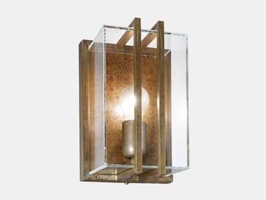 Applique per esterno in ottone e vetro QUADRO 262.07.OT