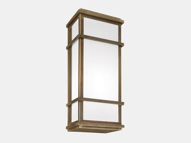 Brass and plexiglass outdoor wall lamp QUADRO 262.10.OB