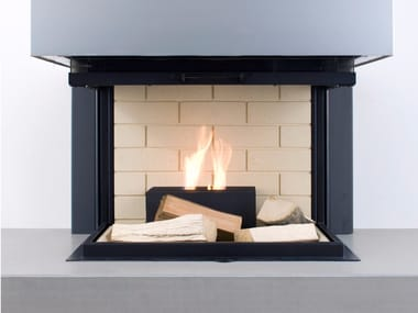 Open bioethanol powder coated steel fireplace QUADRO