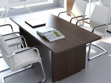Rectangular wooden meeting table QUANDO | Rectangular meeting table