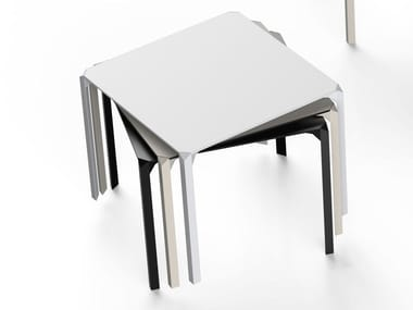 Square polyamide garden table QUARTZ | Square table