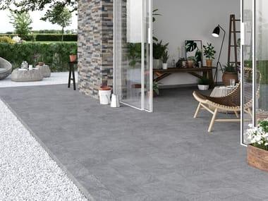 Indoor/outdoor wall/floor tiles with stone effect QUARZI