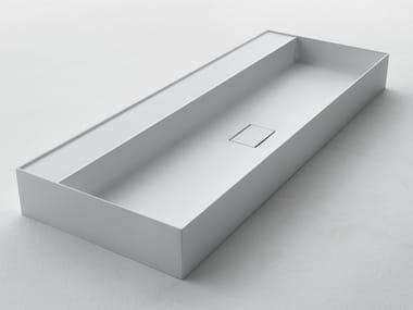 Lavabo rettangolare in Ceramilux® QUATTRO.ZERO – D7H