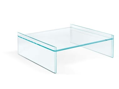 Low square coffee table QUILLER | Square coffee table