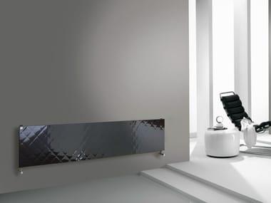 Termoarredo a pannello orizzontale in acciaio QUILT | Termoarredo orizzontale