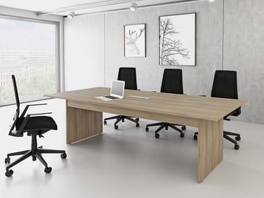 Rectangular meeting table LINEA R | Rectangular meeting table