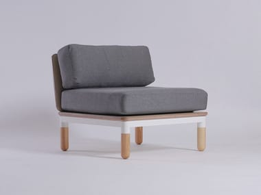 Modular fabric armchair R4