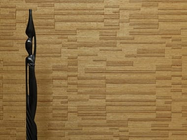 Solid-color wallpaper with textile effect RABANE