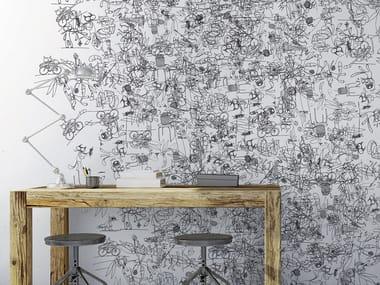 Papel de parede gomado estilo moderno com motivos RABBICATS