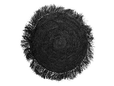 Round raffia cushion RAFFIA | Round cushion