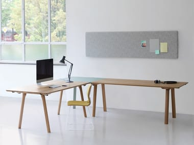 l shaped office table. L-shaped Lacquered Wooden Office Desk RAIL | L Shaped Table