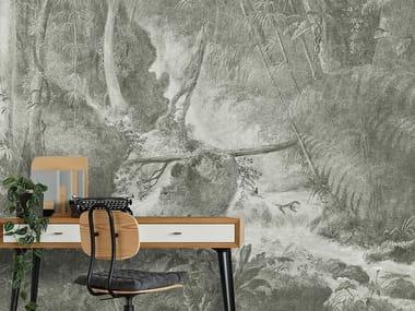 Papel de parede lavável de tecido não tecido RAIN FOREST