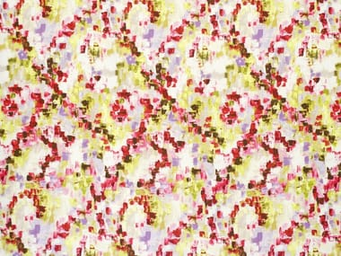 Multi-colored printed fabric RAINFOREST