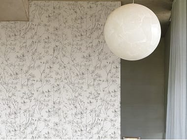 Nonwoven wallpaper with floral pattern RAMAGE TS