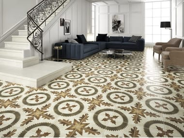 Technical porcelain flooring with encaustic effect RAMBLA