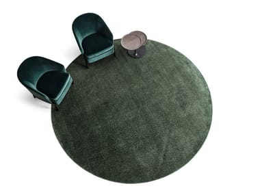 Solid-color fabric rug RANDOM | Round rug