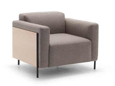 Fabric armchair with armrests RAP BU1135