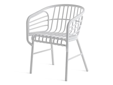 Aluminium chair with armrests RAPHIA ALLUMINIO