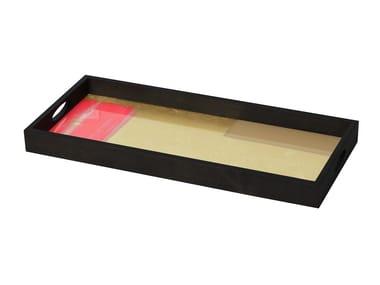 Rectangular glass tray RASPBERRY LANDSCAPE