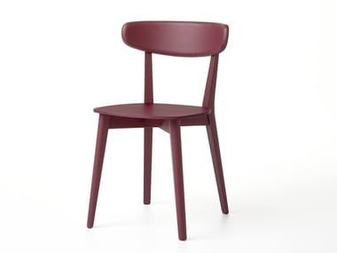 Stuhl aus massivem Holz mit offener Rückenlehne RAVA   Stuhl