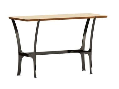 Consolle rettangolare in legno con base in metallo RAVEL | Consolle
