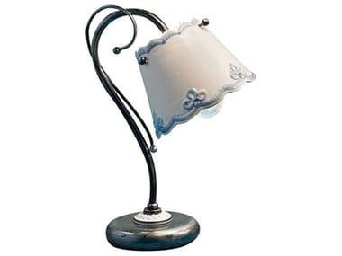 Lampada da tavolo in ceramica con braccio fisso RAVENNA | Lampada da tavolo