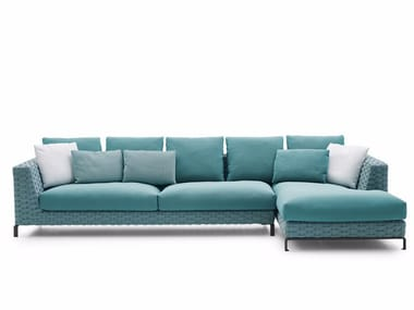 Sofa with chaise longue RAY OUTDOOR FABRIC   Sofa with chaise longue
