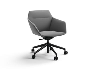 Petit fauteuil rembourré avec accoudoirs avec chevalet RAY SOFT   Petit fauteuil à roulettes