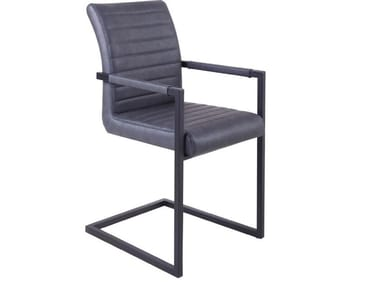Cantilever upholstered chair with armrests RDC-954 | Chair