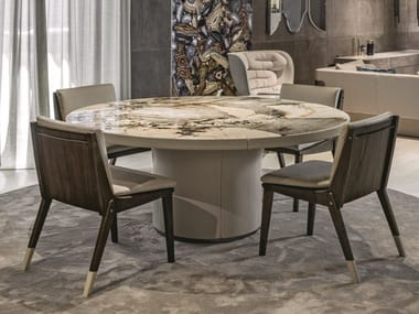 Round table with Lazy Susan RE | Table