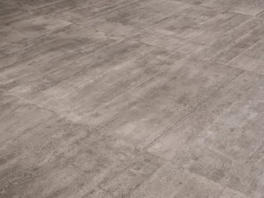 Indoor/outdoor porcelain stoneware wall/floor tiles RE-USE MALTA GREY